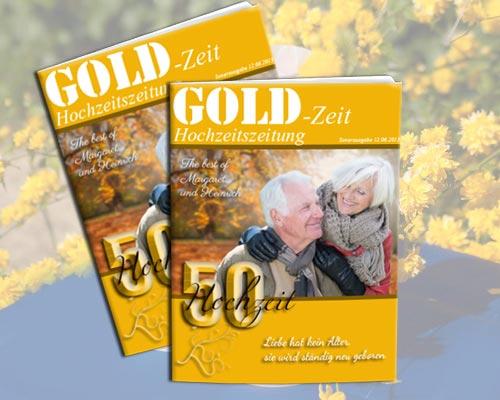 hochzeitszeitung ein exklusives geschenk zur goldene. Black Bedroom Furniture Sets. Home Design Ideas